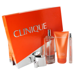 Clinique Perfectly Happy Gift Set Perfume Spray 1.7oz, Body Cream 2.5oz & Rollerball .2oz