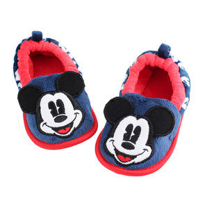 Disney Store Boys Mickey Mouse Slippers, Blue/Red