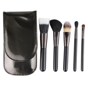 Bar III 5 Piece Travel Brush Set - Eye Shadow/Foundation/Bush/Blurring
