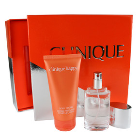 Clinique Twice As Happy Set, 1oz Perfume & 2.5oz Body Cream