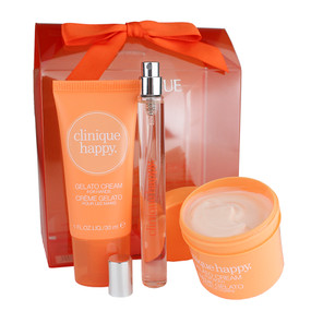 Clinique Happy Treats Set, Happy Perfume Spray, Gelato Cream For Body & Gelato Cream For Hands