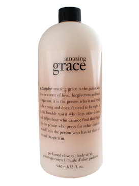 Philosophy Amazing Grace Perfumed Olive Oil Body Scrub, 946ml/32oz