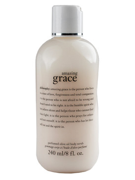 Philosophy Amazing Grace Perfumed Olive Oil Body Scrub, 240ml/8oz