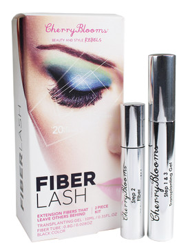 Cherry Blooms Fiber Lash Extensions 2-Piece Kit: Transplanting Gel & Fiber Mascara