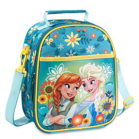 """Disney Store Anna and Elsa - Frozen """"Cold Storage"""" Lunch Tote Bag for Girls"""