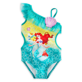 "Disney Store Ariel - The Little Mermaid ""New Wave"" Swimsuit for Girls"
