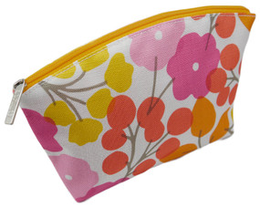 Clinique Cherry Blossom Pink Floral Cosmetic Makeup Travel Bag