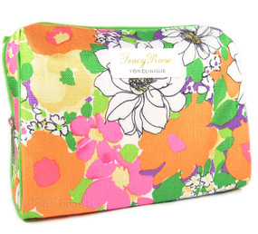 Clinique by Tracy Reese Floral Big Cosmetic Makeup Travel Bag
