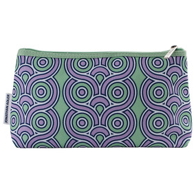 Clinique By Jonathan Adler Green & Purple Cosmetic Makeup Travel Bag