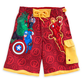 "Disney Store Avengers ""Pool resources"" Swim Trunks for Boys"