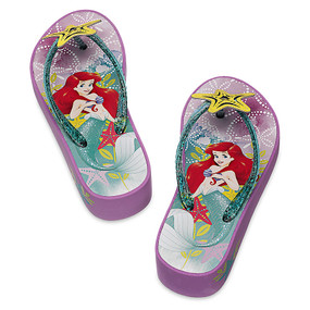 "Disney Store Ariel - The Little Mermaid ""Surf & Turf"" Girls Platform Flip Flops"