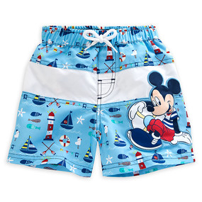 "Disney Store Mickey Mouse ""Sailor style"" Swim Trunks for Baby"