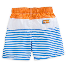 "Disney Store Finding Nemo ""Fish Wish"" Stripped Swim Trunks for Baby"
