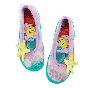 "Disney Store Ariel - The Little Mermaid ""Shore Footed"" Swim Shoes for Girls"