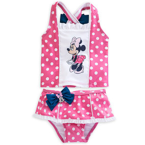 "Disney Store Minnie Mouse ""Dipping Dots"" Tankini 2 Piece Swimsuit for Baby"