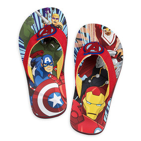 "Disney Store Avengers ""Feet of strength"" Flip Flops for Boys"