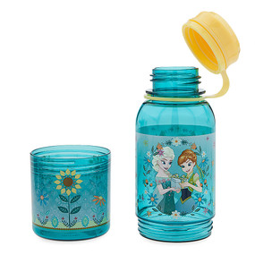 "Disney Store Anna and Elsa - Frozen Fever ""Twin Treats"" Snack Bottle"