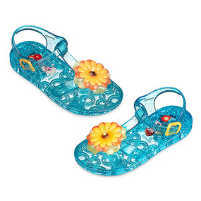"Disney Store Girls Anna & Elsa - Frozen - ""Sole Sisters"" Jelly Sandals, Blue"