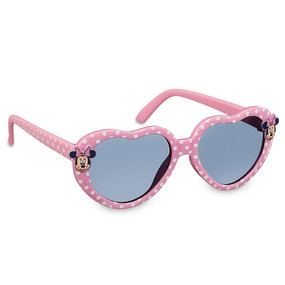 Disney Store Minnie Mouse Polka Dot Heart-Shaped Pink Sunglasses for Baby