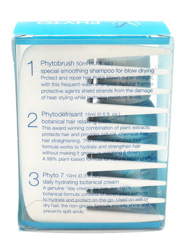 Phyto Phytopetites Smooth Sleek - 4 Piece Set: Comb, PhytoBrush, Phytodefrisant, Phyto 7