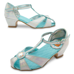 Disney Store Girls Anna & Elsa - Frozen - Dress Shoes, Metallic/Blue
