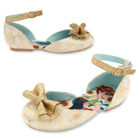 "Disney Store Anna and Elsa - Frozen ""All that Glitters"" Shoes for Girls"