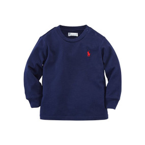 Ralph Lauren Baby Boys Cotton Long-Sleeve Crew T-Shirt