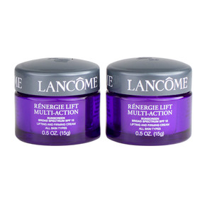 Lancome Renergie Lift Multi-Action Lifting & Firming Cream Spf15, Travel Size 1oz/30g, Set of 2 (0.5oz/15g each)