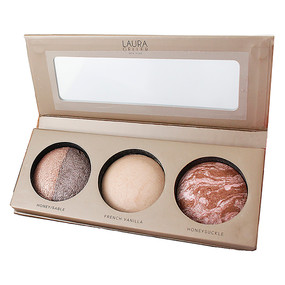 Laura Geller get ready and go palette - Honey/Sable, French Vanilla, Honey Suckle - .06oz/1.8g each Unboxed