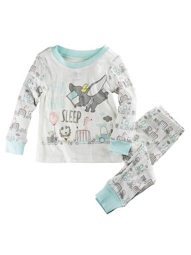 "Disney Store Baby Dumbo ""Choo Choo To Sleep"" PJ PALS Pajama Set, White"