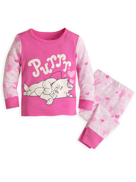 "Disney Store Baby Girls Marie - The Aristocats - ""Purrr"" PJ PALS Pajama Set"