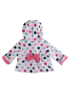 "Disney Store Baby Girls Minnie Mouse ""Heart of Winter Knit"" Zip Front Hoodie"