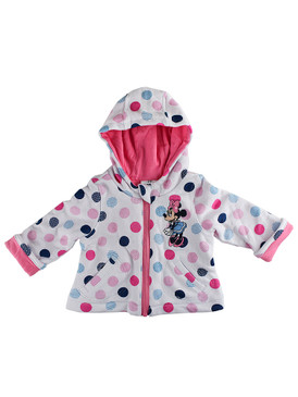 """Disney Store Baby Girls Minnie Mouse """"Heart of Winter Knit"""" Zip Front Hoodie"""
