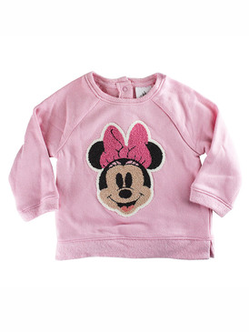 Disney Store Baby Girls Minnie Mouse Sweater + Toy, Pink