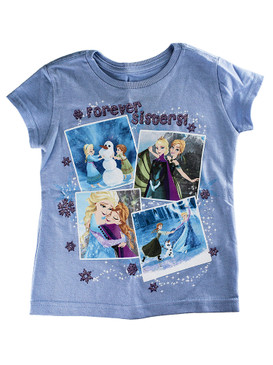"Disney Store Girls Anna & Elsa - Frozen - ""Forever Sisters"" T-Shirt, Purple"