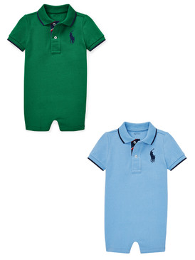 Ralph Lauren Baby Boys Big Pony Cotton Mesh Polo Shortall