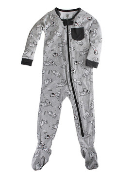 Disney Store Baby Boys 101 Dalmatians Long Sleeve Sleeper, Gray