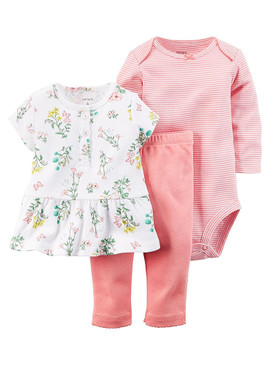 Carter's Baby Girls Floral Fashion 3-Piece Set