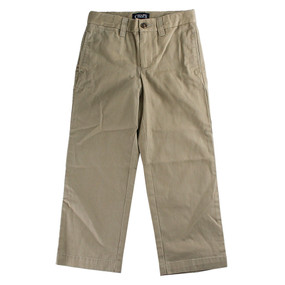 Chaps Boys Chino Pants with Adjustable Waist - Khaki