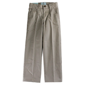 Class Club Boys Modern Fit-Flat Front Pants - Khaki