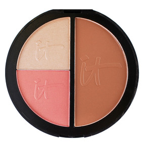 it Cosmetics Live, Love, Laugh Vitality Face Disc Palette, Blush/Bronzer/Illuminator .78oz/22.22g