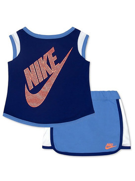 Nike Girls 2-Pcs Color-Blocked Scooter Set - Chalk Blue