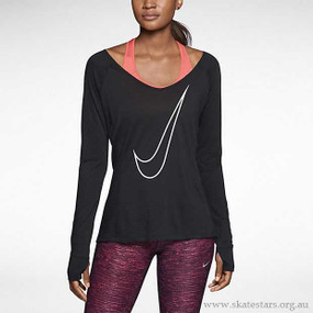 Nike Pro Dri-FIT Lux Long-Sleeve Women's Running V-Neck Shirt 618115