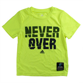 "Adidas Boys ""Never Over"" Short Sleeve T-Shirt, Bright Yellow"