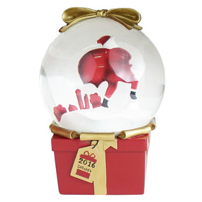 """Dillard's Limited Edition Snow Globe Third Series """"Twas the Night Before Christmas"""" Unboxed"""