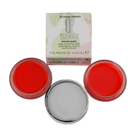 Clinique Sweet Pots Sugar Scrub & Lip Balm .41oz/12g - In Box