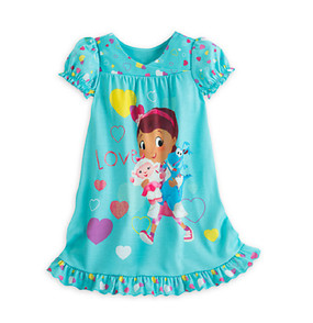 "Disney Store Doc McStuffins ""Love"" Short Sleeve Nightshirt Nightgown for Girls"