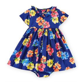 Ralph Lauren Baby Girls Floral Woven Dress & Bloomer