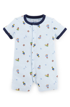 Ralph Lauren Baby Boys 'Polo Bear' Cotton Romper