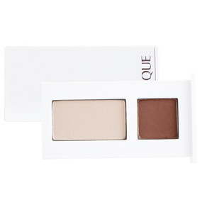 Clinique All About Shadow Duo - 01 Teddy & 04 Ivory Bisque/Bronze Satin, Travel Size .06oz/1.7g